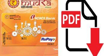 Mudra Loan Online Application Form - MUDRA Bank